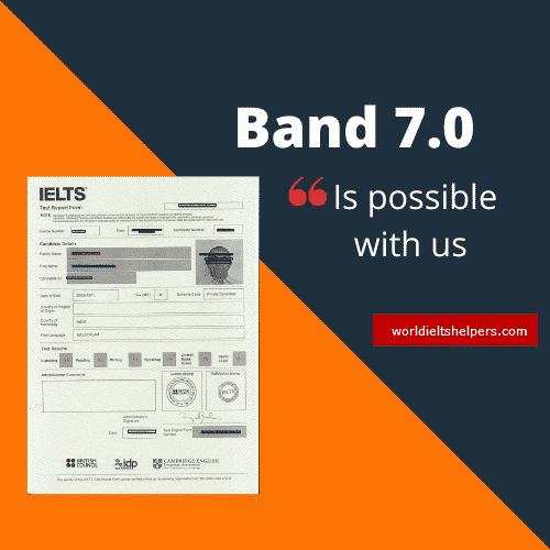 IELTS Band 7.0