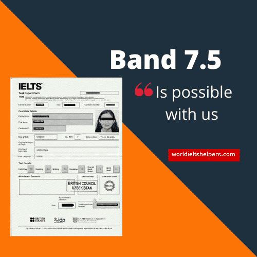 IELTS Band 7.5